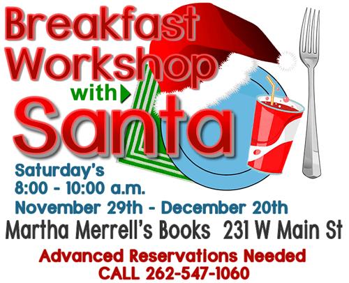 Martha Merrells Santa Breakfast Workshop in Waukesha 2014