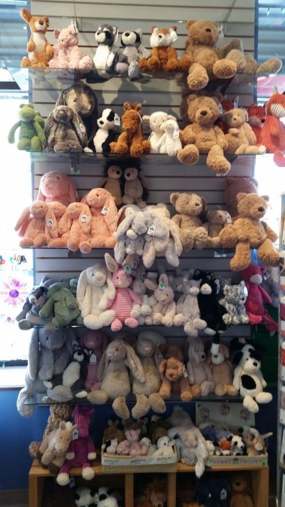 JellyCat soft toys at Martha Merrell's in Waukesha